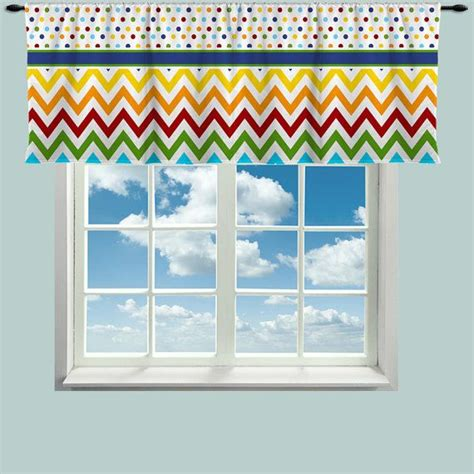 multi color chevron curtains custom window curtain or valance rainbow multi color dot