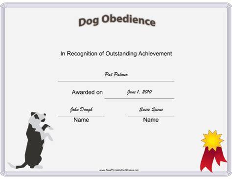 exle service dog certificate