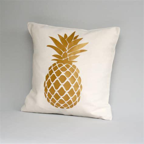 Pineapple Pillows by Metallic Gold Pillow Cover Gold Pineapple Pillow Cover By