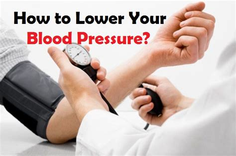 How to Lower Your Blood Pressure?