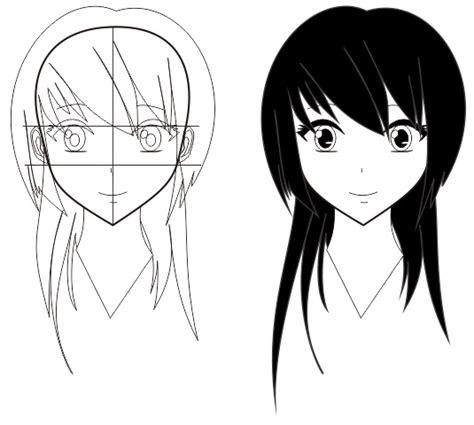 tutorial belajar gambar anime cara membuat wajah anime belajar informatika