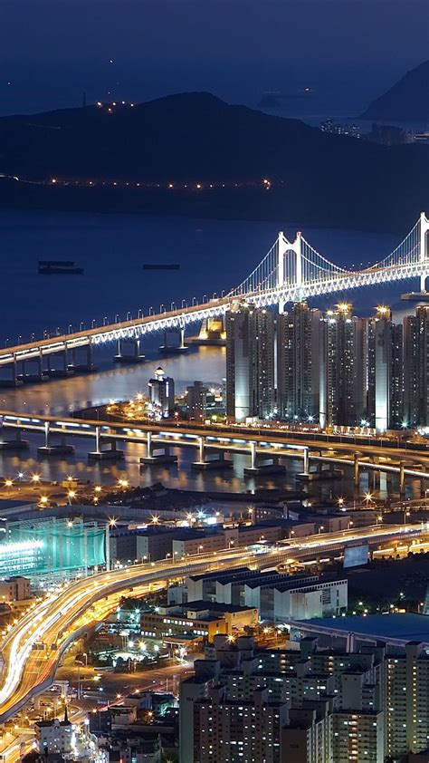 wallpaper iphone 5 korea gwangan bridge busan south korea spice wallpapers hd 1080x1920