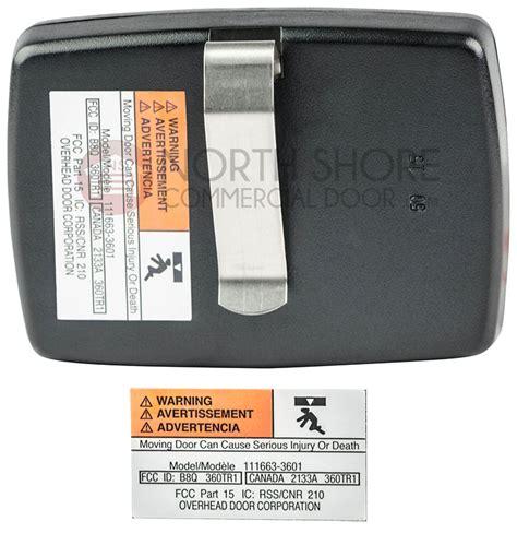 Overhead Door Remote Transmitter 360mhz Part No 111663 360 Crusader Garage Door Opener