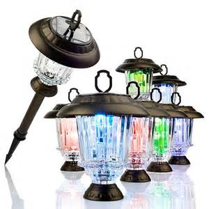 color changing solar lights daintily color changing glass solar lights 8 pack at hsn