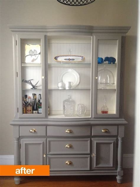 painted china cabinet before and after 9 before and after furniture makeovers omg lifestyle blog