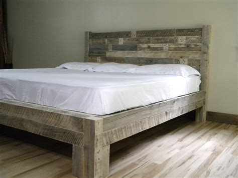 Reclaimed Wood Platform Bed Platform Bed Platform Frame Reclaimed Wood By Jnmrusticdesigns