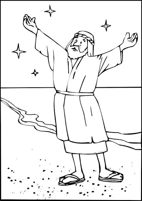 coloring page abraham stars bible coloring pages abraham religion abrahamic