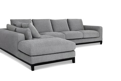 kellan sectional sofa with left chaise grey tweed