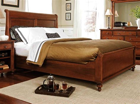 jasper luxury king cherry sleigh bed marble 5 pc bedroom king sleigh bed trudell king sleigh bed durham furniture