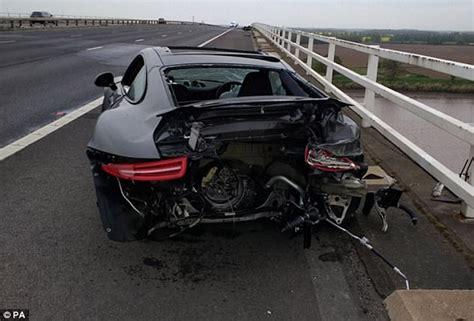 Porsche Crash by M62 Still Closed 4 Hours After Porsche And Mustang Crash