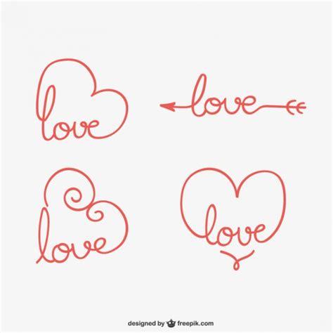 imagenes de amor para recortar adornos de amor caligr 225 ficos descargar vectores gratis