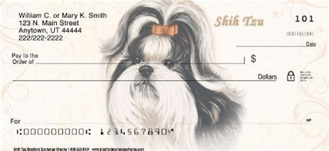 shih tzu checks shih tzu personal checks