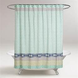 Blue Green Curtains Blue And Green Daelynn Shower Curtain World Market