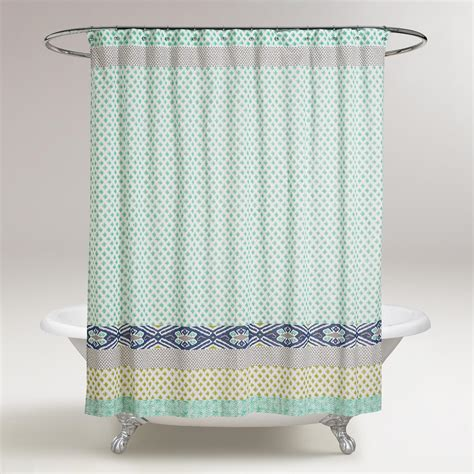 Blue Green Shower Curtain by Blue And Green Daelynn Shower Curtain World Market