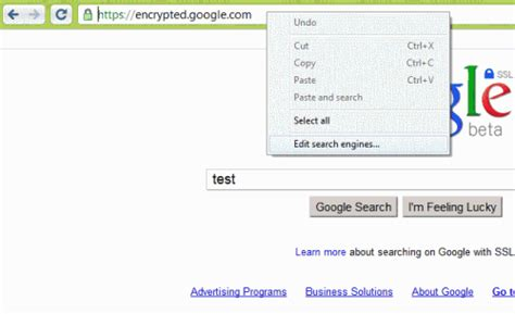 chrome search engine how to add google encrypted search engine to firefox