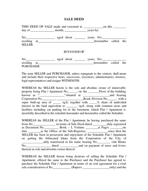 Sale Deed Format Images Sale Deed For Car Real State Pinterest Car Sale Deed Template Usa