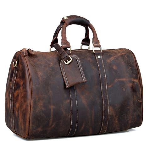 Handmade Leather Luggage - cattle 2013 fashion handmade vintage leather