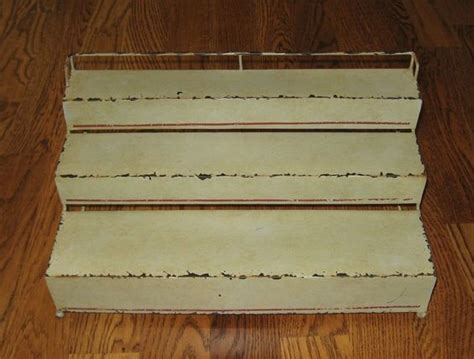 Spice Rack Stairs Green Metal Display Stair Step Shelf Counter Table Desk