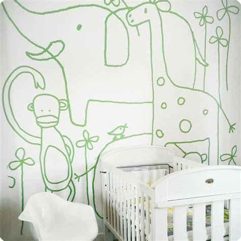buy removable wall murals  zoo design  jane reiseger