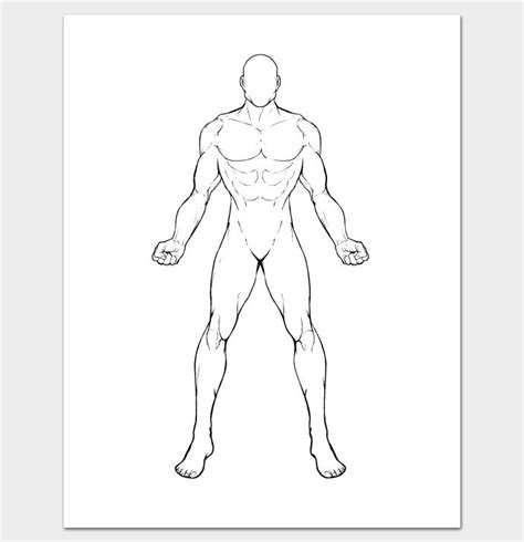 human body outline printable www pixshark com images