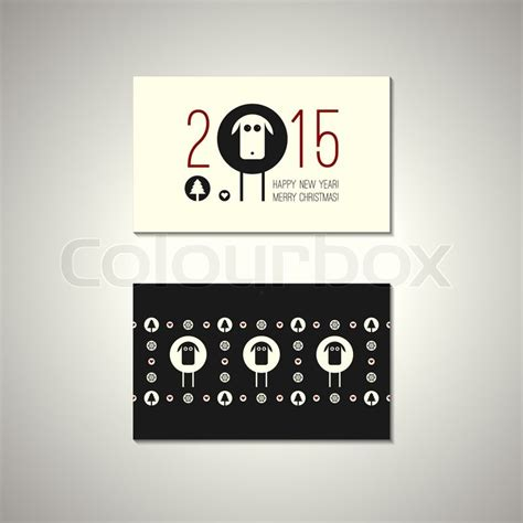 Happy New Year Business Card Template by Vector Flat Quot Merry Quot And Quot Happy New Year