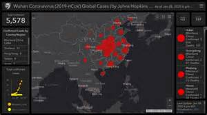 map tracks coronavirus outbreak   real time