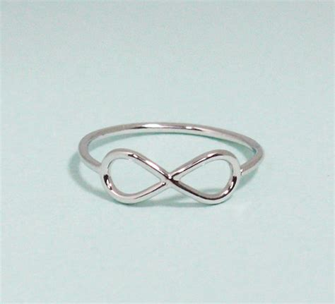infinity ring 5 size in white gold everyday jewelry