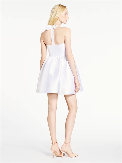 Topshops Bow Back Dress by Kate Spade New York Bow Back Fit And Flare Dress In White