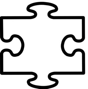 puzzle piece clipart black  white clipground