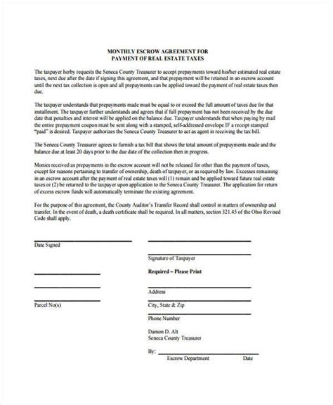 escrow agreement template 10 escrow agreement form sles free sle exle