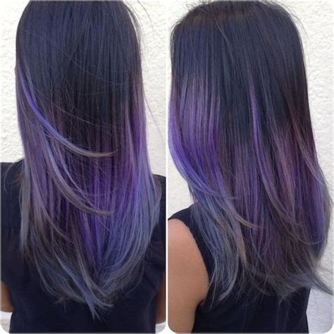 purple hair for asians 29 best balayage hairstyles for straight hair for 2017