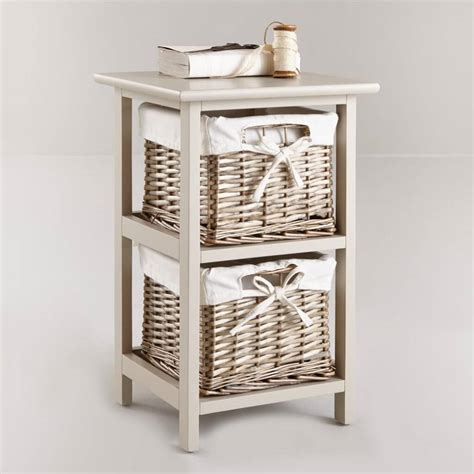 2 Drawer Basket Storage by Woven Basket Drawer Units Storage Ideas