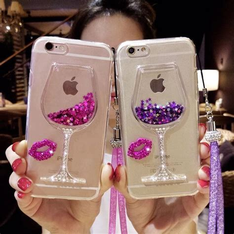Best Casing Cover Iphone Glitter Iphone 7 Plus Ultra Thin Sof bling bling iphone 7 plus liquid wine cup glitter cases phone cases iphone 6 6 plus cover