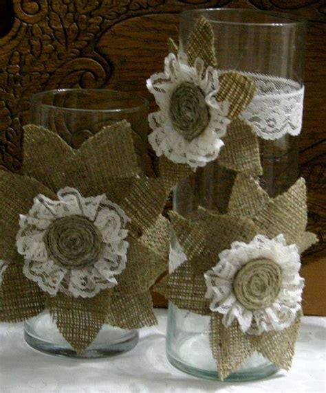 burlap centerpieces bridal shower reception ideas