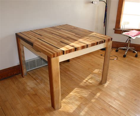 butcher build butcher block hardwood table 5 steps with pictures