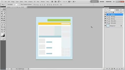 layout youtube photoshop how to create a basic structure of a blog layout in