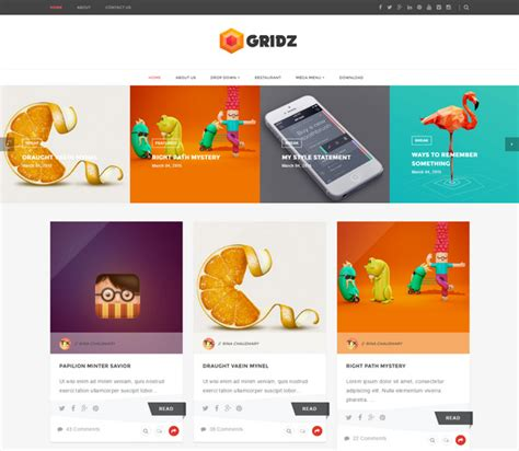 blog grid 55 best free responsive blogger templates 2018