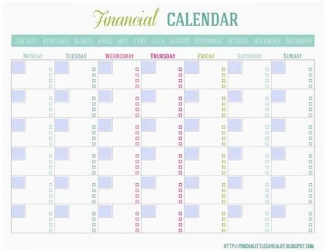 monthly payment calendar template i crafting how to create a home management binder