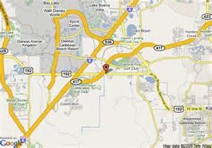 map of 8 motel kissimmee orlando area fl kissimmee