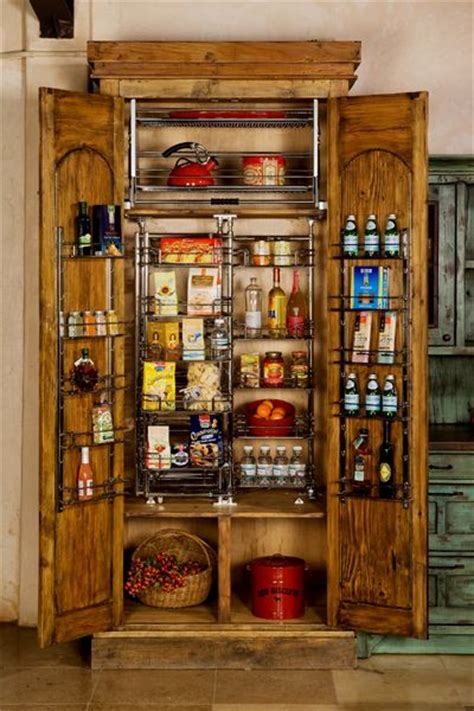 custom built wooden pantry hand carved reclaimed wood
