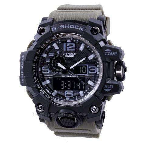 Terlaris Jam Tangan Pria G Shock Hijau Water Resist 6 harga sarap jam tangan g shock mudmaster gwg1000 1a3