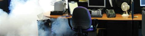 Office Security by Office Security Concept Smoke Screen Security Fog