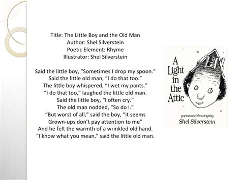 boy on a swing poem analysis poetry analysis the little boy and the old man by shel