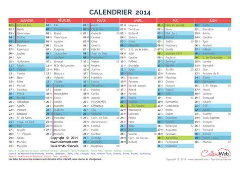 Calendrier Avec Les Saints Calendrier Semestriel 233 E 2014 Avec Jours F 233 Ri 233 S