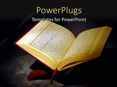 themes al quran powerpoint template islamic holy quran depiction with