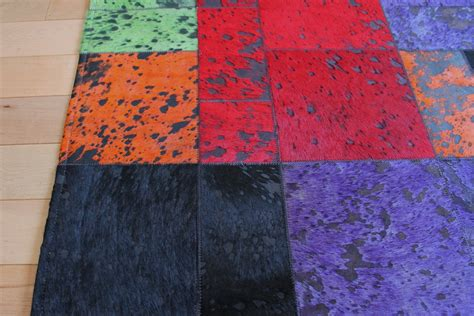 coloured cowhide rugs multi color cow hide rug mh 271