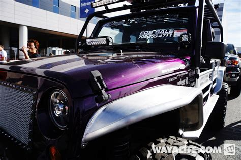 purple jeep renegade 2013 sema purple kao jeep jk wrangler 4 door