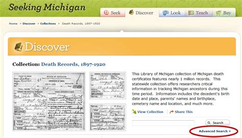 Seekingmichigan Org Records Random Mews 187 Archive 187 Tuesday S Tip Advanced Searches On Seeking Michigan