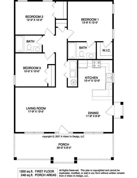 Small House Floor Plan by Small House Plans 4