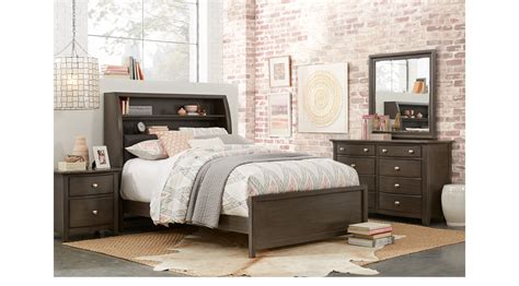 santa cruz bedroom furniture santa cruz gray 5 pc twin bookcase bedroom